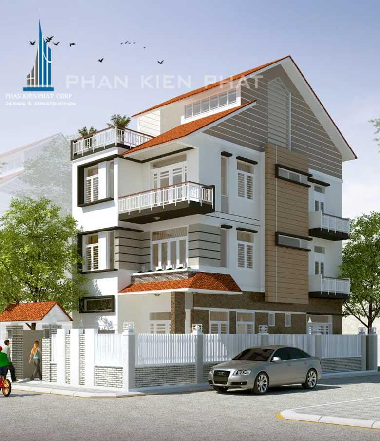 Bản thiết kế nhà 3 tầng
