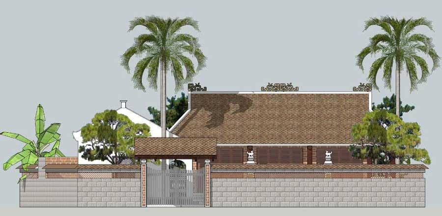 Thiết kế nhà 3 gian