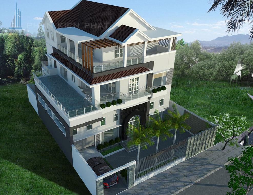 Công trình, Thiết kế xây dựng biệt thự, Anh Phan Hậu