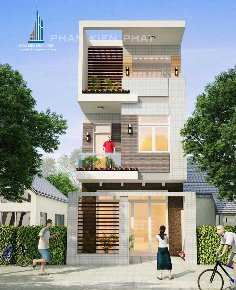 Công trình, Thiết kế xây dựng nhà phố, Cô Nguyễn Thị Năm
