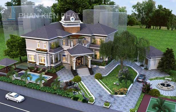 Công trình, Thiết kế xây dựng biệt thự, Anh Lê Huỳnh Tấn Sang