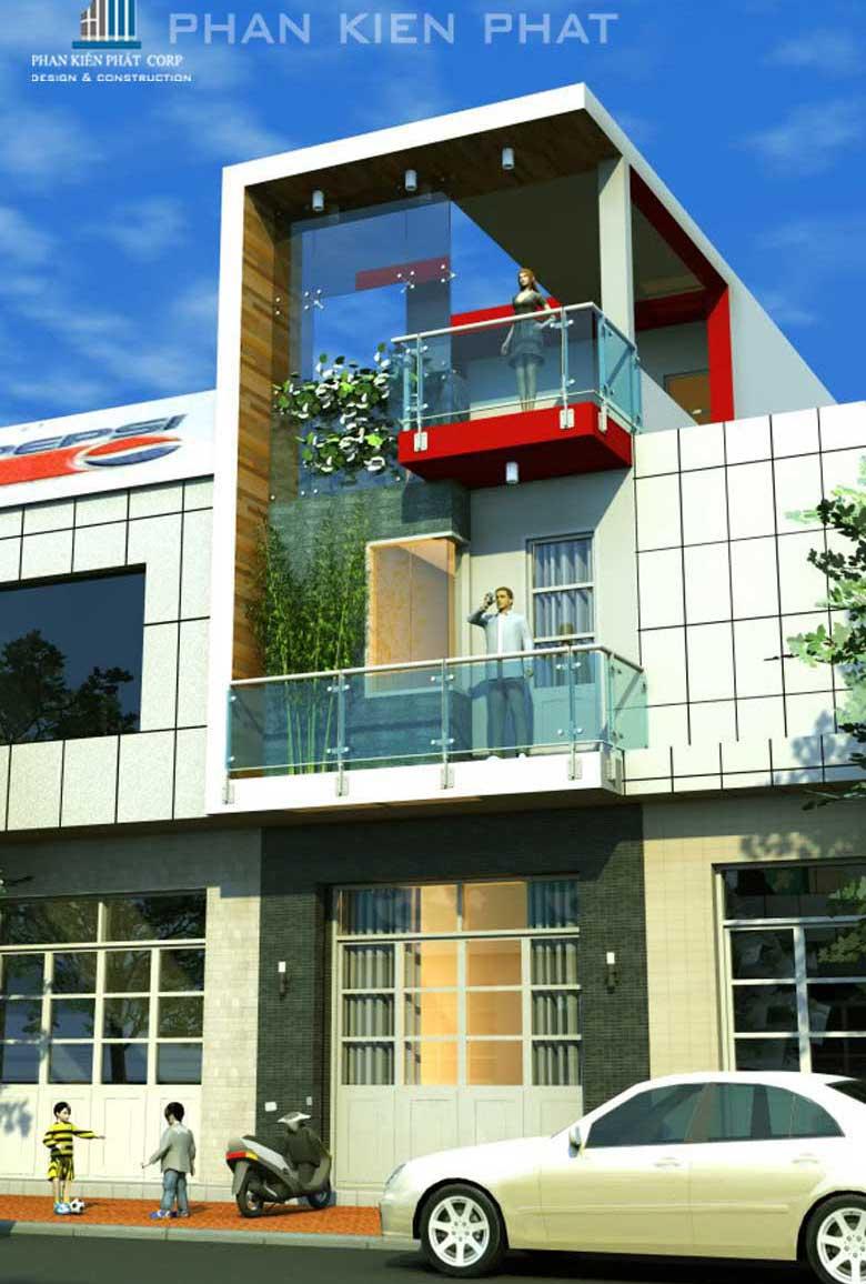 Công trình, Thiết kế xây dựng nhà phố, Anh Cao Quốc Ân
