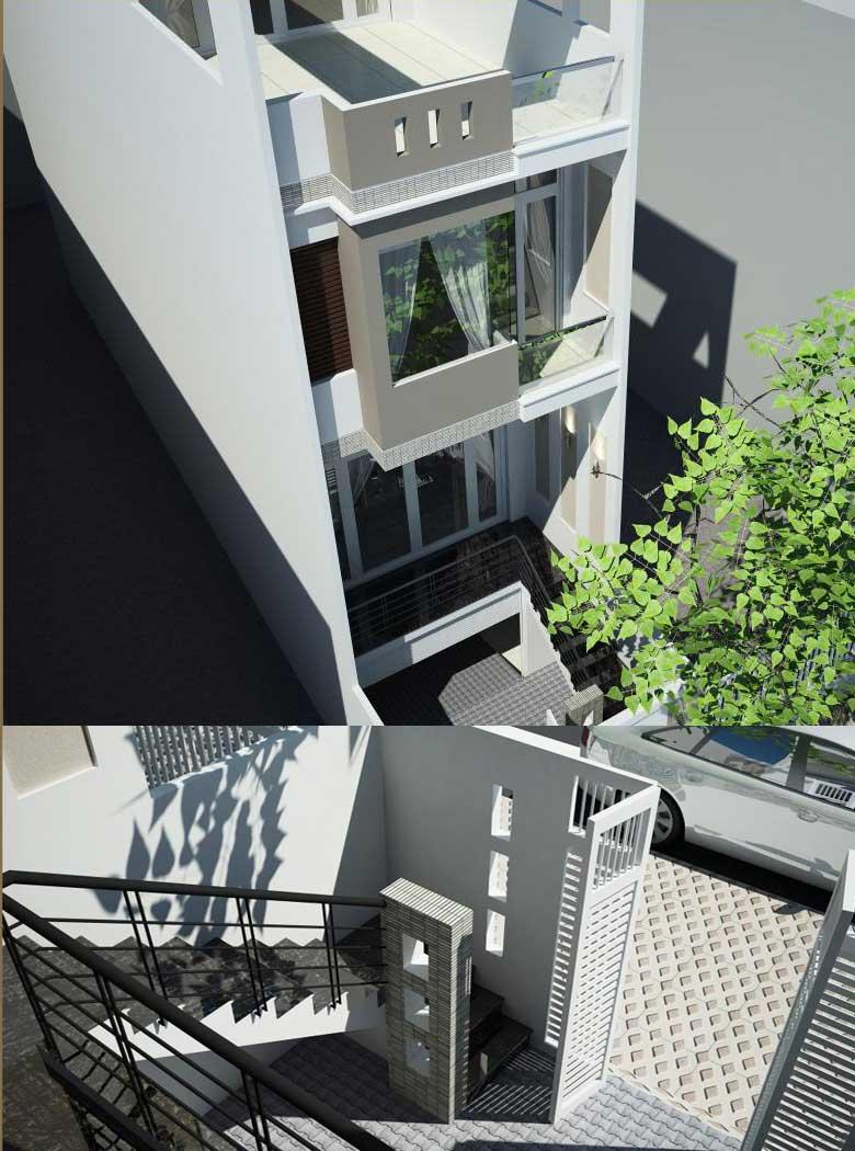 Thiết kế nhà 4 tầng 4mx14m