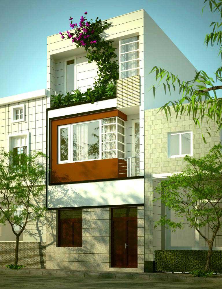 Thiết kế nhà 1 trệt 2 tầng