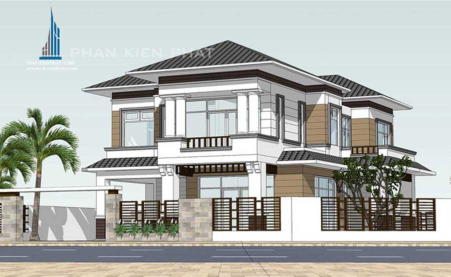 Công trình, Thiết kế xây dựng biệt thự, Chị Đào Thị Bích Liên