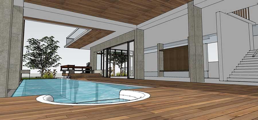 Thiết kế biệt thự 2 tầng - Hồ bơi