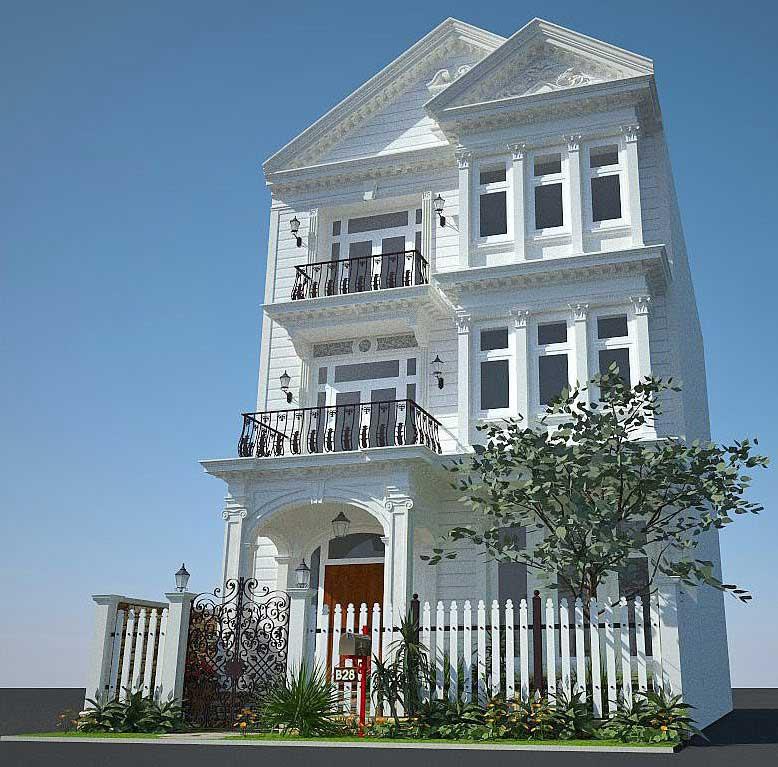 Biệt thự cổ điển 3 tầng - Góc 3