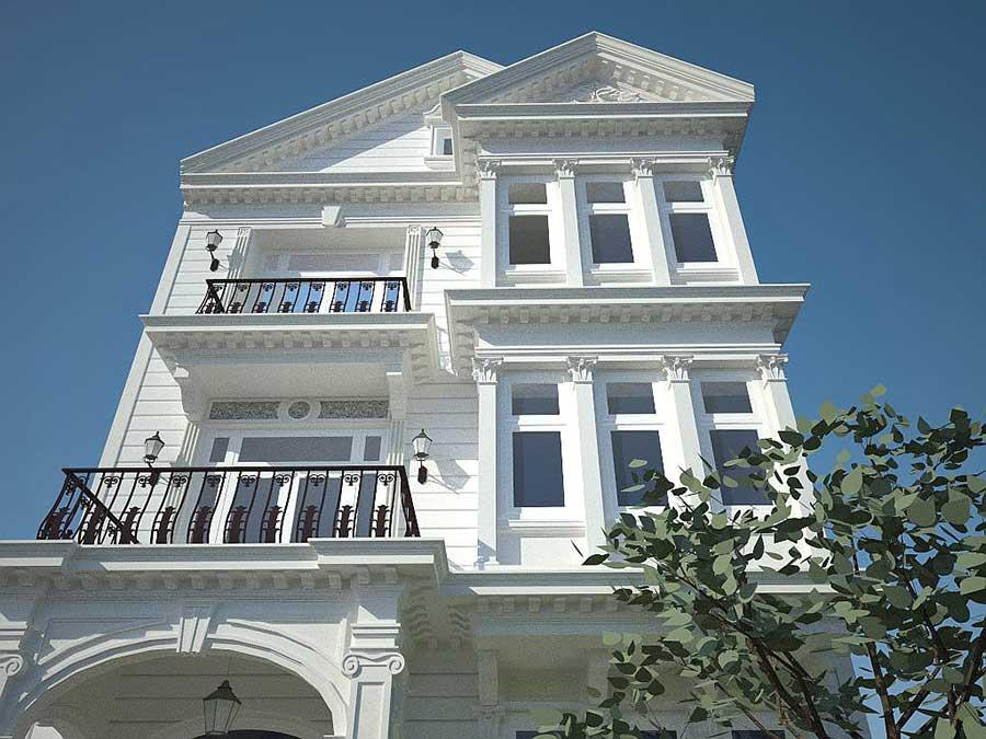 Biệt thự 3 tầng cổ điển - Góc 1