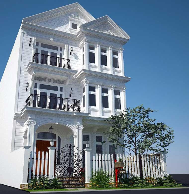 Công trình, Thiết kế xây dựng biệt thự, Chị Trần Thị Kim Hống