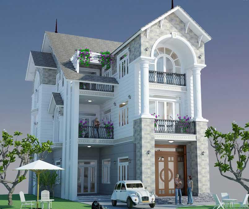 Thiết kế xây dựng biệt thự vườn - Góc 1