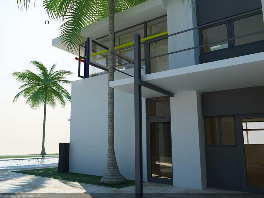 Biệt thự 2 tầng hình hộp - Góc 1