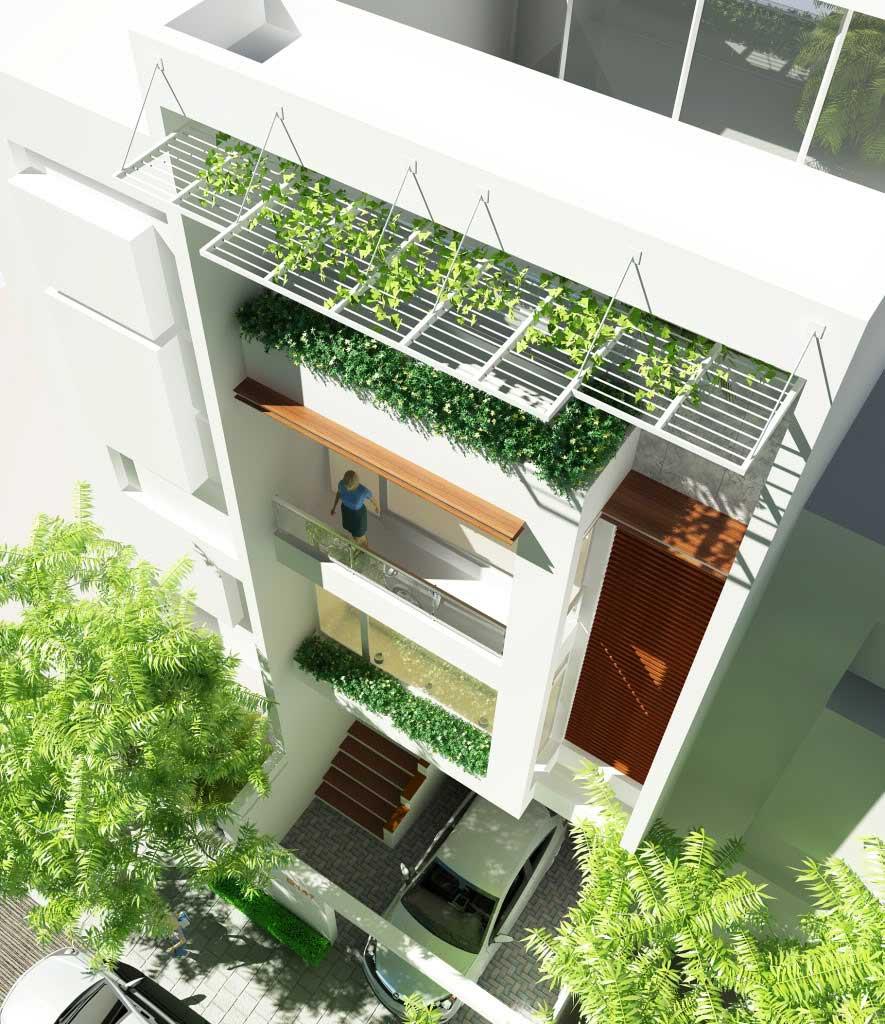 Xây nhà 4 tầng 5x15m
