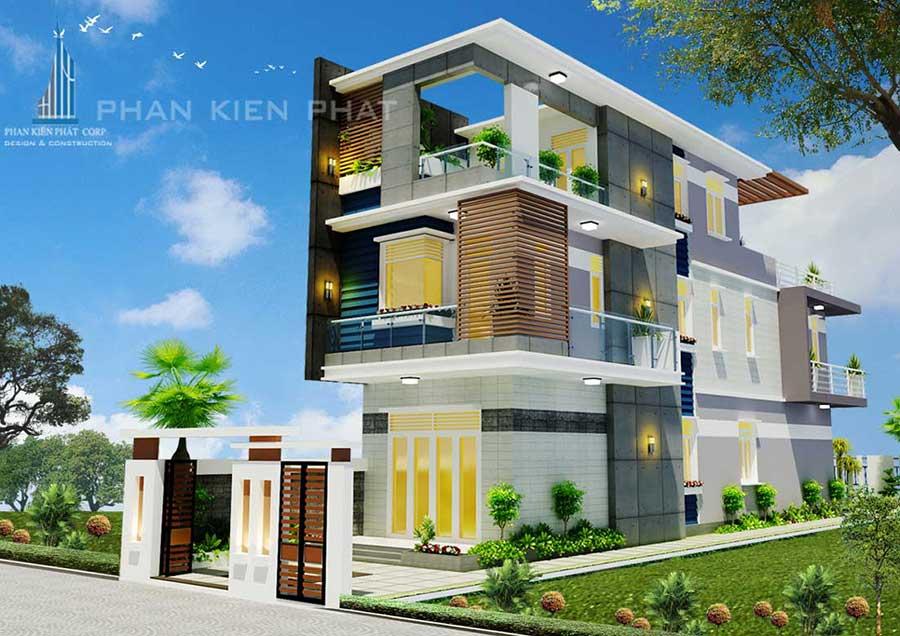 Công trình, Thiết kế xây dựng biệt thự, Cô Trần Thị Kiên