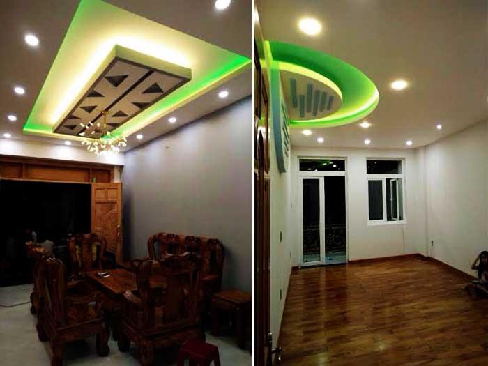 Thiết kế nhà 4 tầng - Phòng khách và phòng ngủ (1)