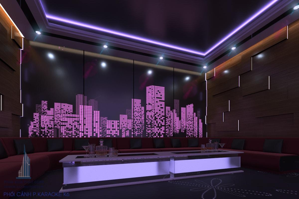 Bản vẽ karaoke đẹp phòng 6 view 1