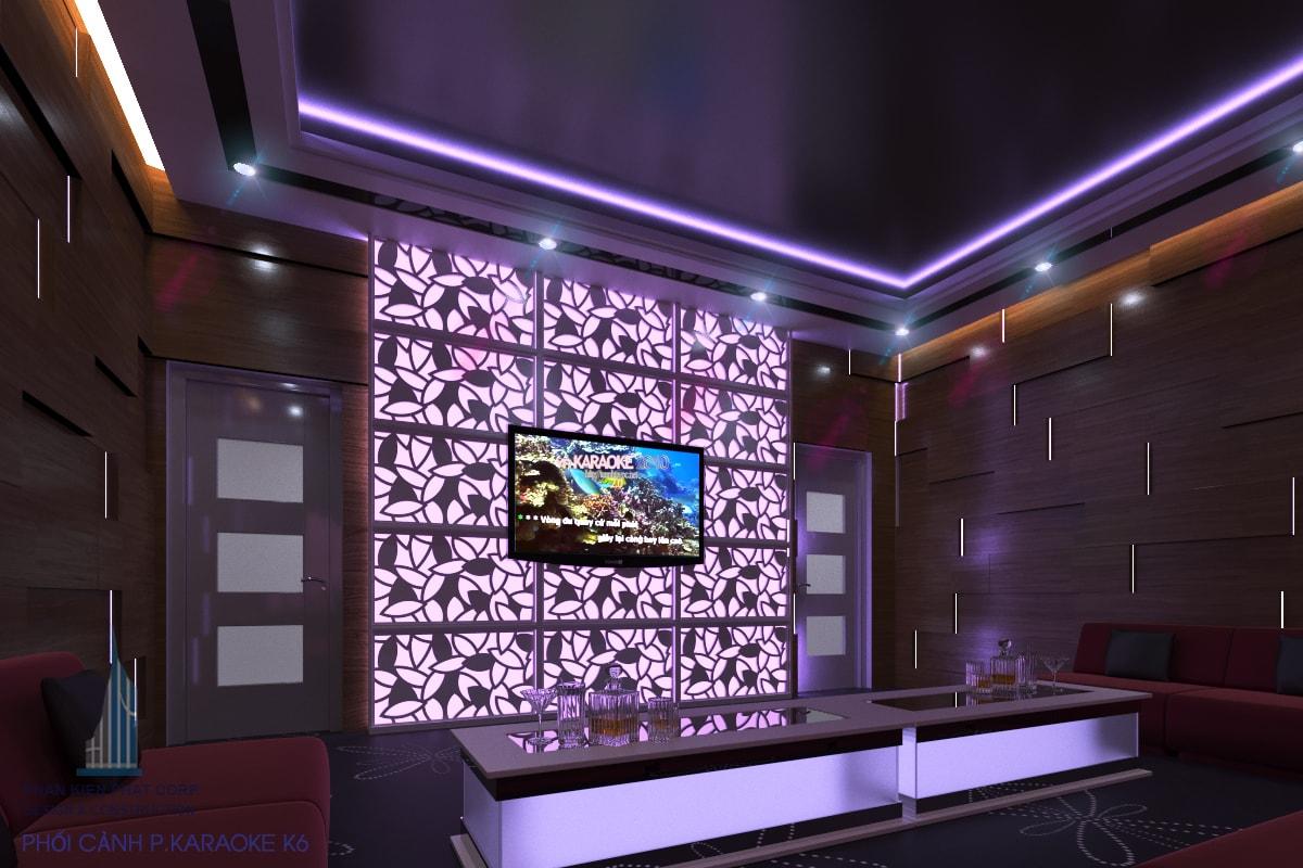 Bản vẽ karaoke đẹp phòng 6 view 2