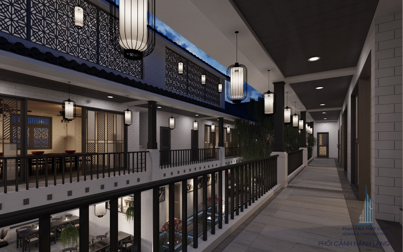 Bản vẽ thiết kế nhà hàng tầng 2