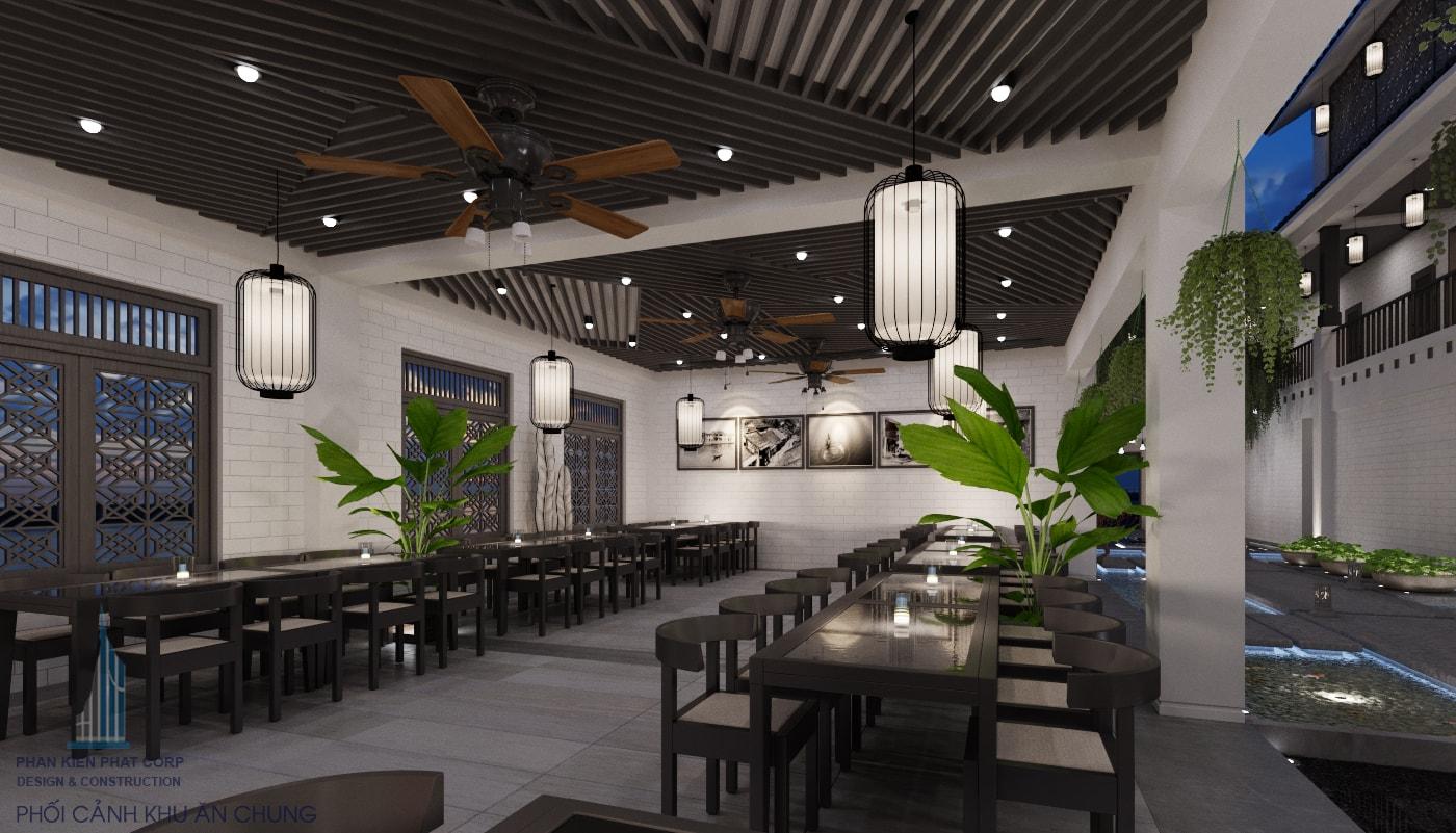 Bản vẽ thiết kế nhà hàng - khu ăn chung