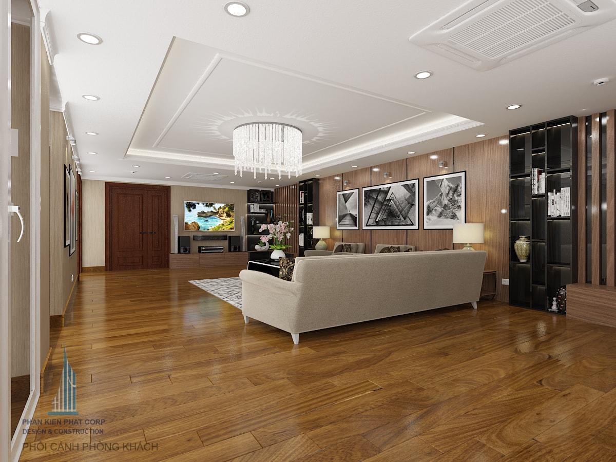 Bản vẽ nội thất phòng khách view 4