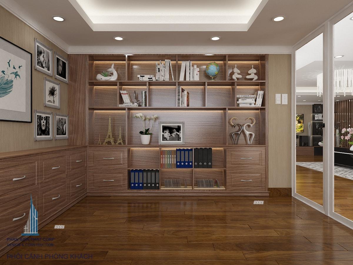 Bản vẽ nội thất phòng khách view 5