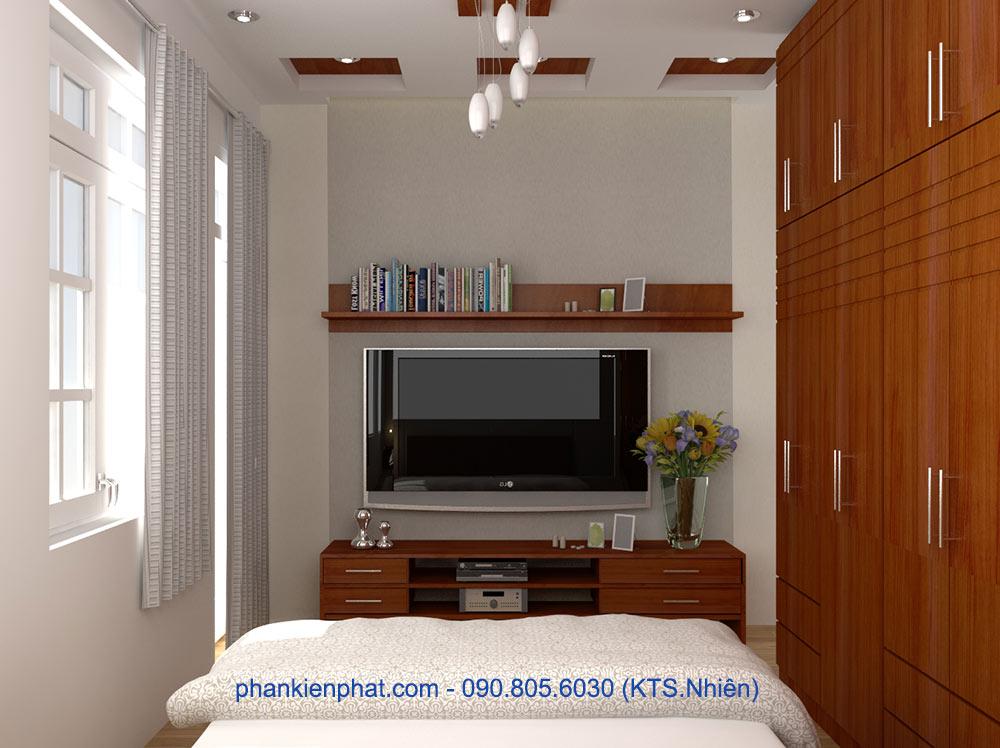 Phòng ngủ 1 view 2 của nhà đẹp 4.7x12m 4 tầng