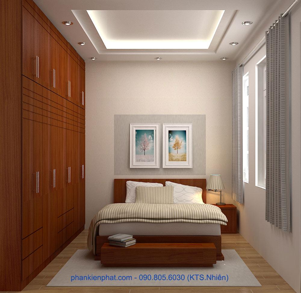 Bản vẽ phòng ngủ 3 view 1