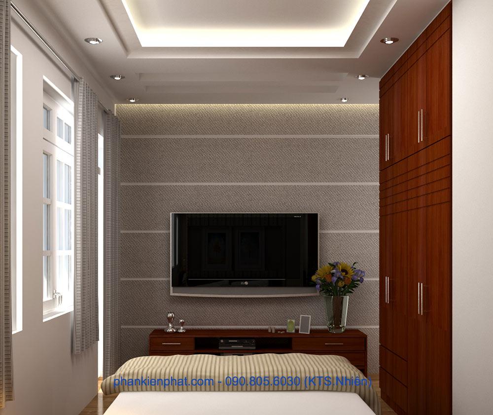 Phòng ngủ 3 view 2 bản vẽ nhà 1 trệt 3 tầng 4.7x12m