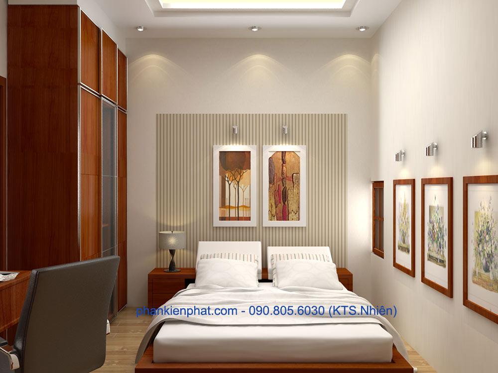 Phòng ngủ 4 view 2 nhà đẹp 1 trệt 3 tầng hiện đại