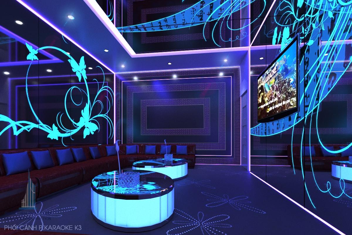 Bản vẽ quán karaoke phòng 3 view 1