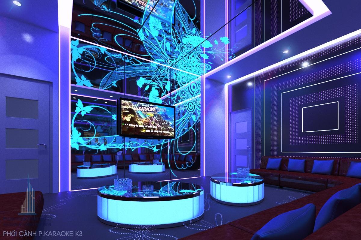 Bản vẽ quán karaoke phòng 3 view 2