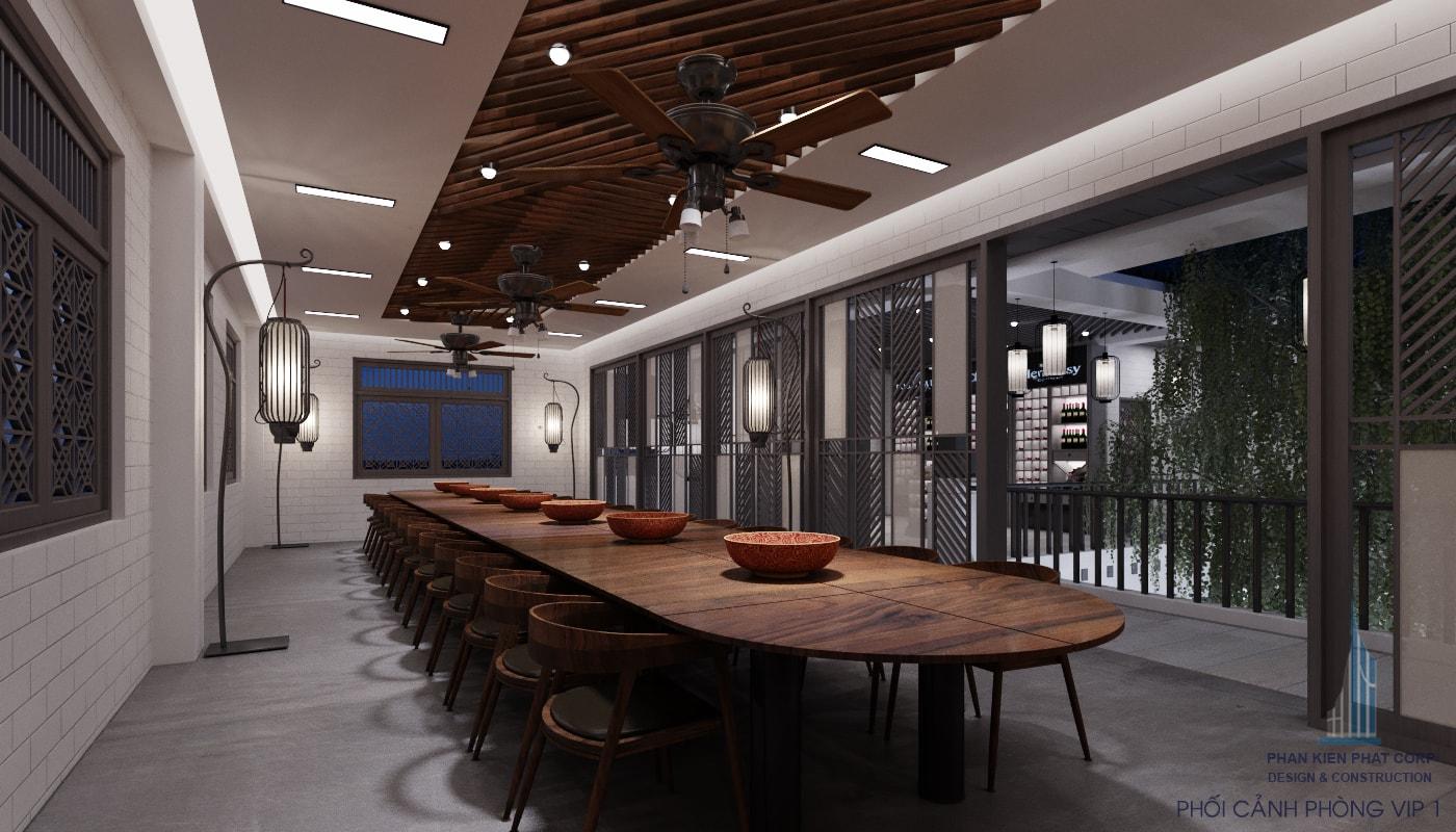Bản vẽ nhà hàng - Phòng Vip view 2