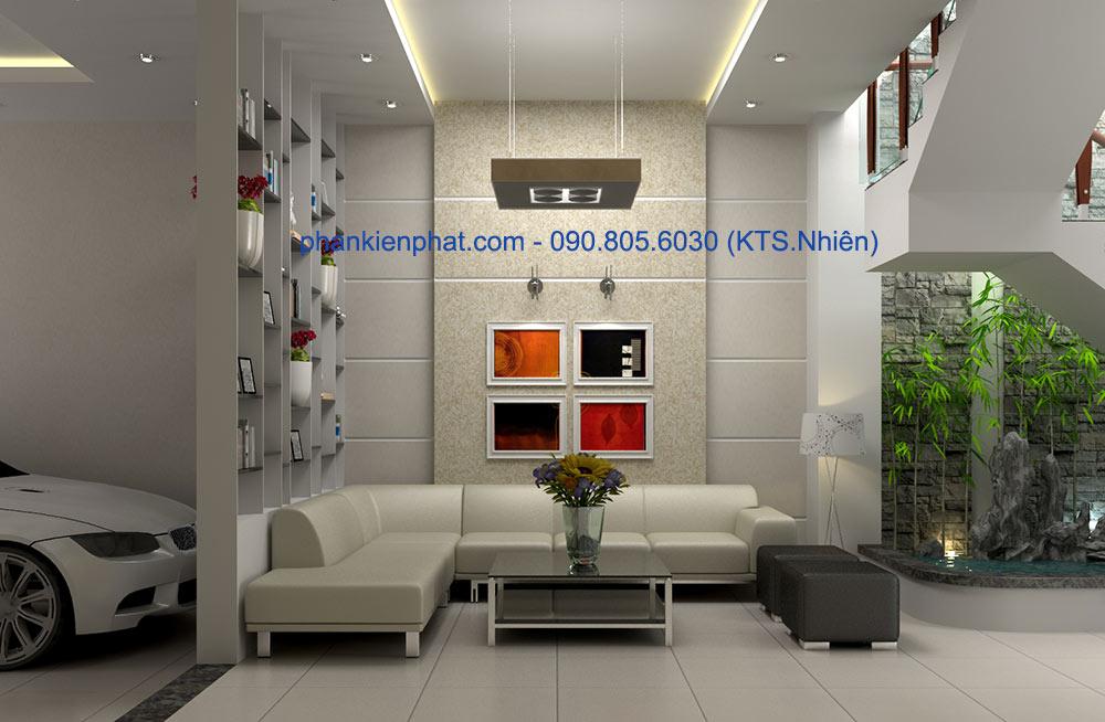 Bản vẽ thiết kế phòng khách view 2
