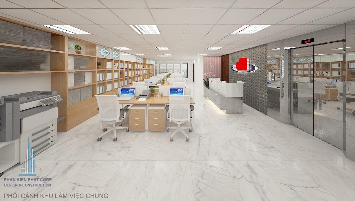 Bản vẽ văn phòng làm việc view 3