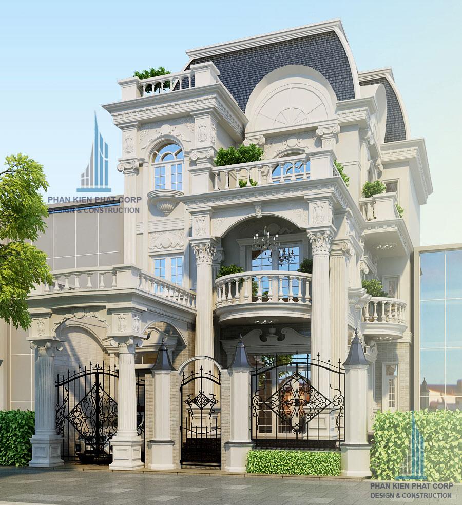 Thiết kế biệt thự cổ điển 5x20m