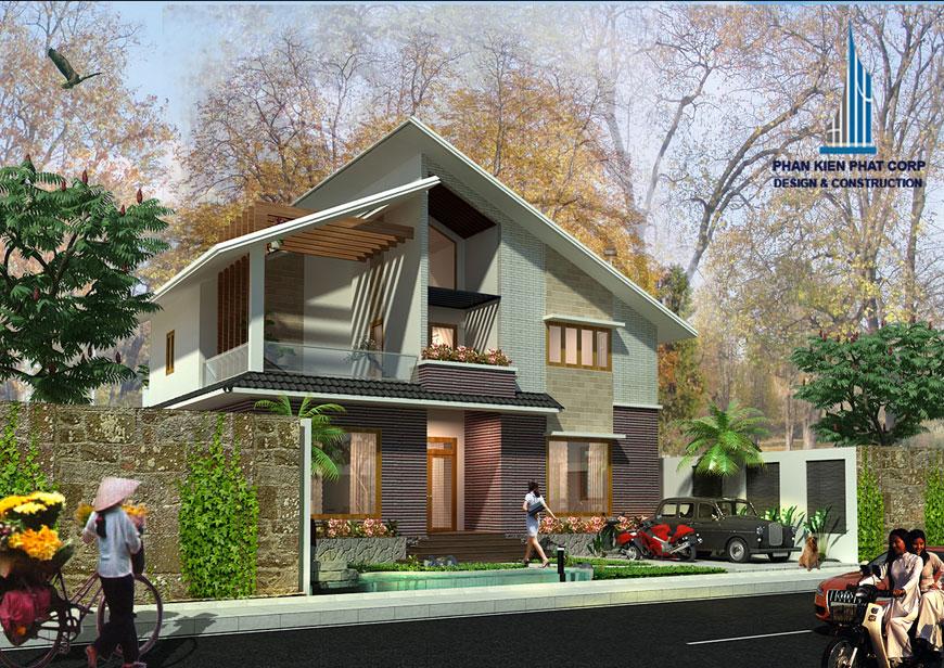 Công trình, Thiết kế nhà 2 tầng, Anh Lê Xuân Trường
