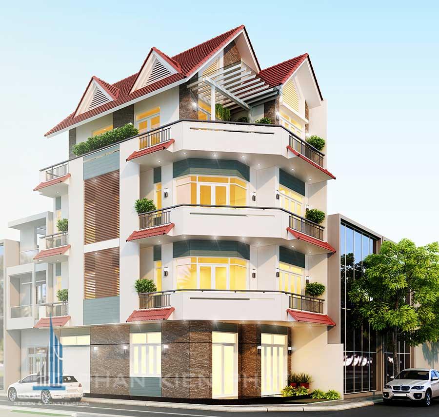 Thiết kế nhà 4 tầng kết hợp kinh doanh