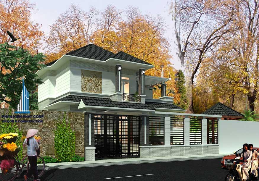 Công trình, Thiết kế nhà 2 tầng, Anh Phạm Hữu Đại
