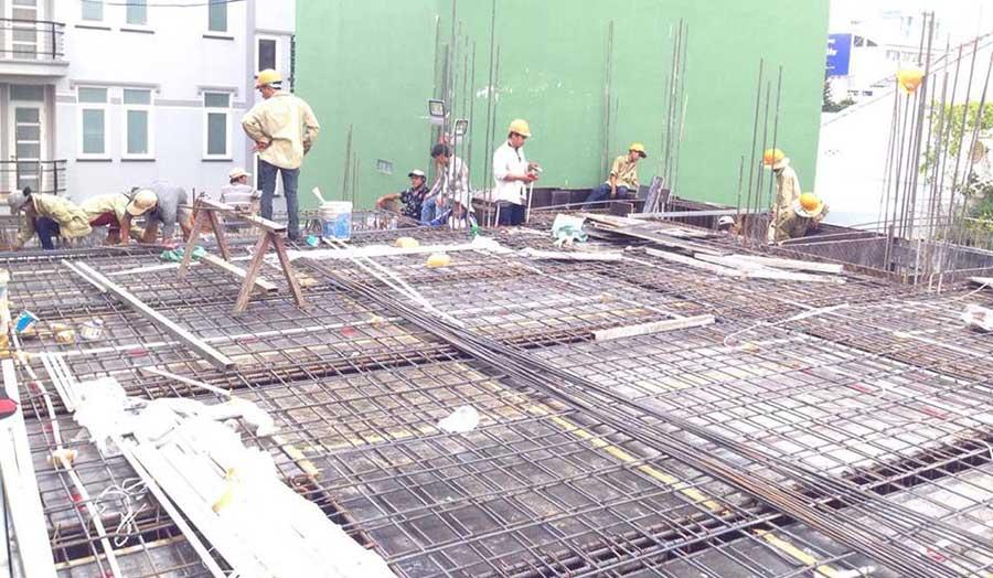 Chuẩn bị sắt đổ bê tông (1)