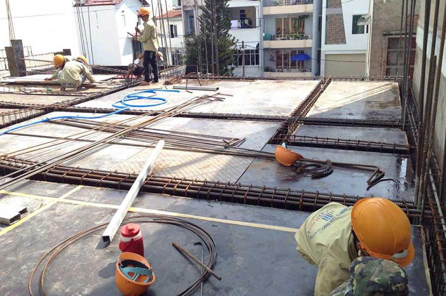 Chuẩn bị sắt đổ bê tông (2)