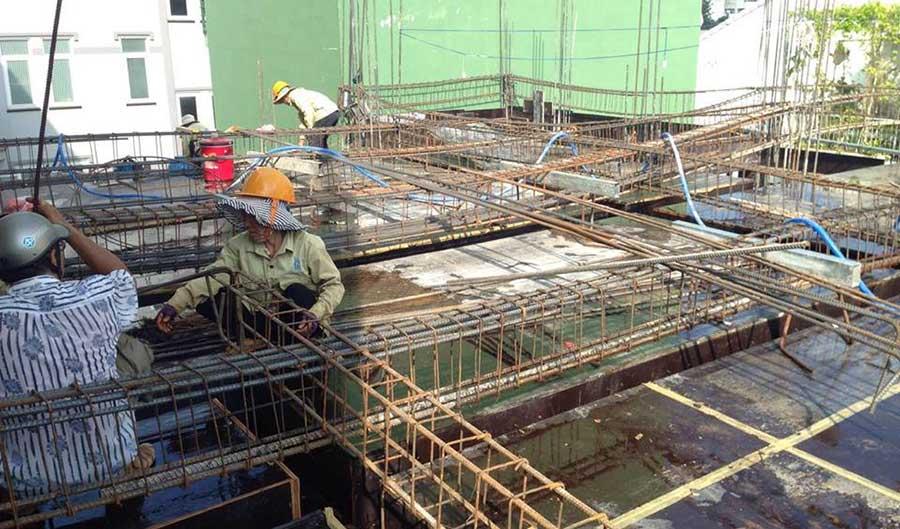 Chuẩn bị sắt đổ bê tông (4)