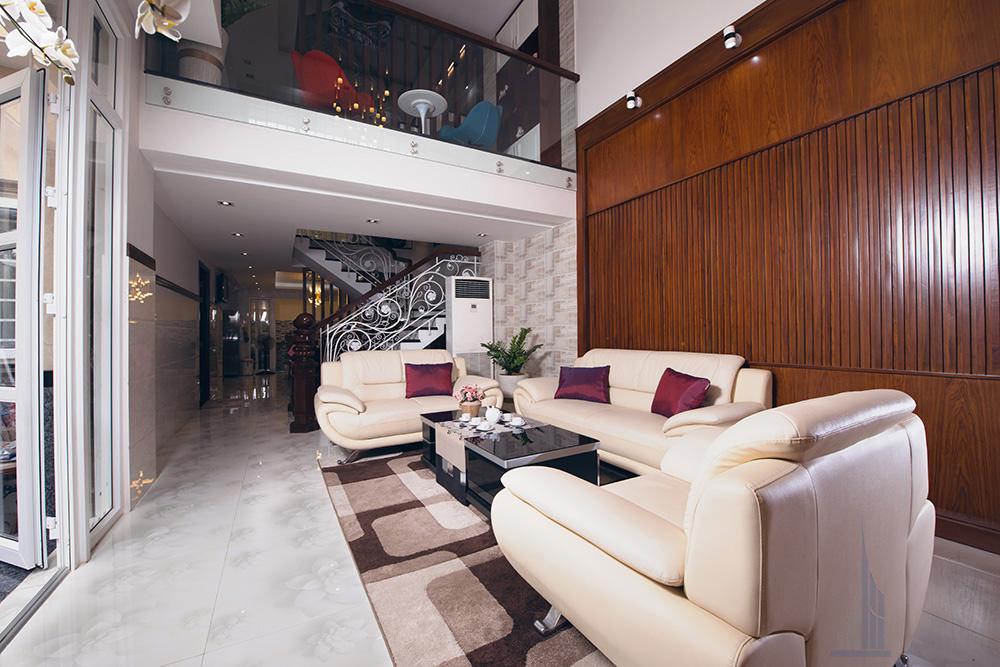 Công trình biệt thự do Phan Kiến Phát thi công góc view 4