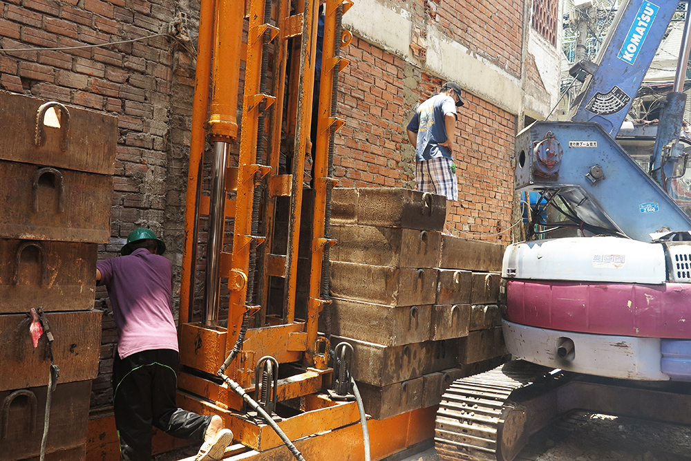Công trình ép cọc nhà phố 5 tầng