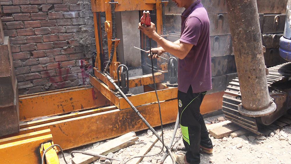 Công trình ép cọc nhà phố 5 tầng góc 2