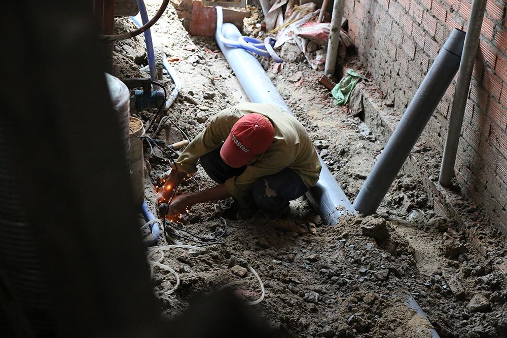 Công trình nước ngầm nhà phố 5 tầng