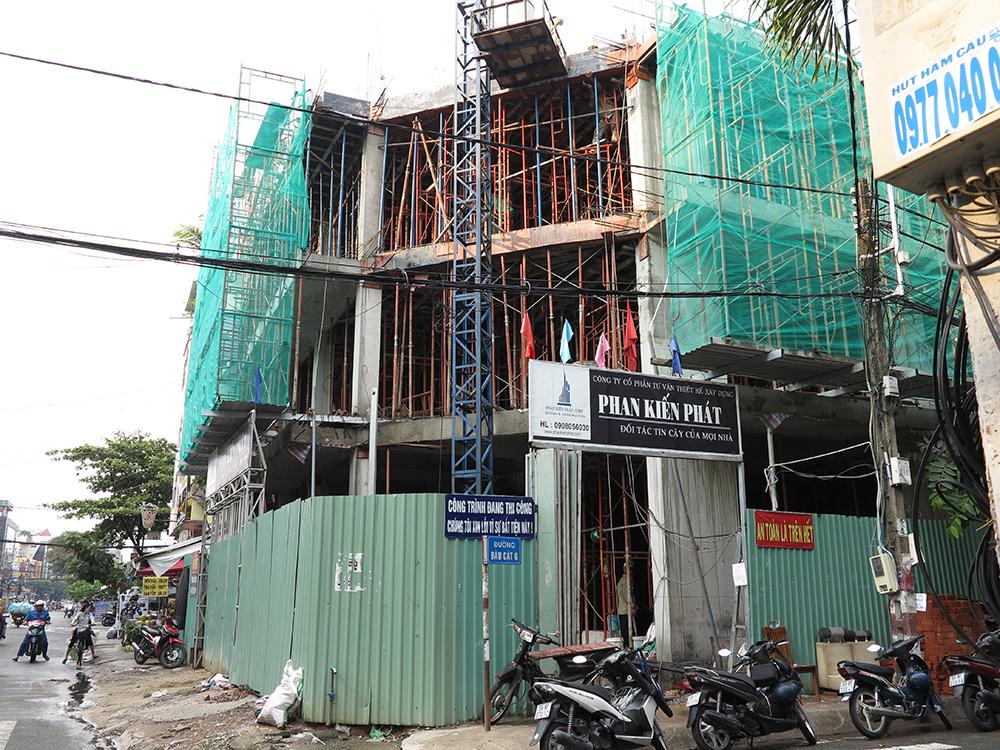 Công trình tòa nhà văn phòng do Phan Kiến Phát thiết kế thi công góc view 24