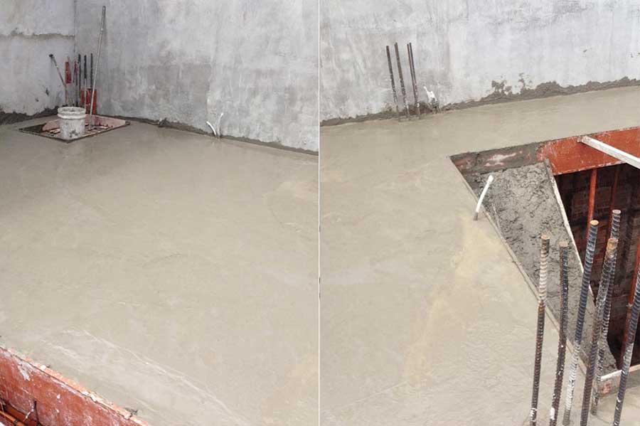 Báo giá nhà phố - đổ bê tông lầu 1 hoàn thành