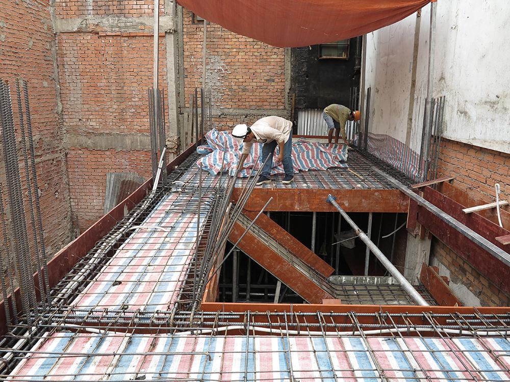 Giai đoạn làm sắt sàn & cốt pha tầng lửng