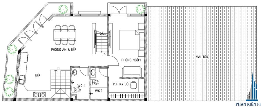 Thiết kế nhà phố - lầu 2
