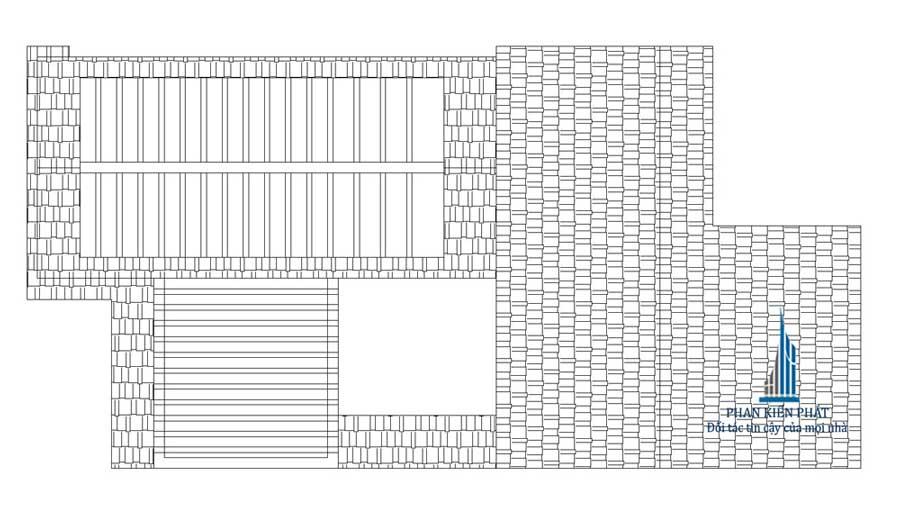 Mặt bằng mái của nhà phố 3 tầng