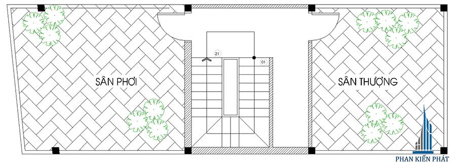 Sân thượng - nhà phố hiện đại